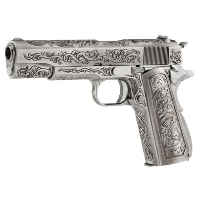 COLT 1911 Chrome  Etched Special Edition Floral Patern